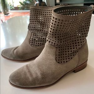 Michael Kor's Taupe Suede Ankle Boots